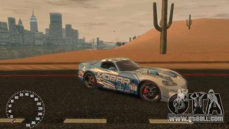 Dodge Viper SRT-10 Mopar Drift for GTA 4 left view