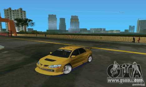 Mitsubishi Lancer Evo for GTA Vice City left view
