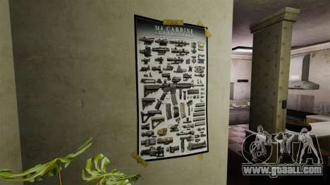 New posters in the second apartment for GTA 4