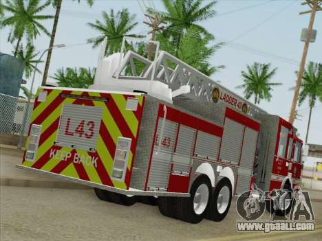 Pierce Arrow LAFD Ladder 43 for GTA San Andreas back left view