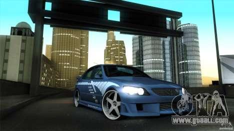 Lexus IS 300 Veilside for GTA San Andreas inner view