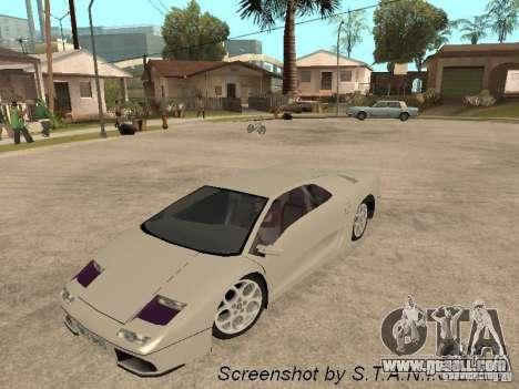 Lamborghini Diablo for GTA San Andreas right view