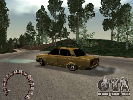 VAZ 2105 Gold for GTA San Andreas left view