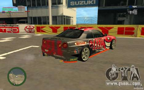 Nissan Skyline R34 Hell Energy for GTA San Andreas left view