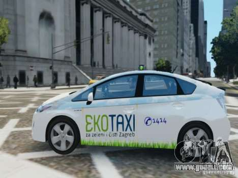 Toyota Prius EKO TAXI (Hrvatski taxi) for GTA 4 left view
