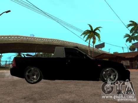 Lada Priora Pickup for GTA San Andreas back left view