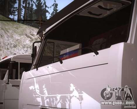 KAMAZ 65117 for GTA San Andreas back view