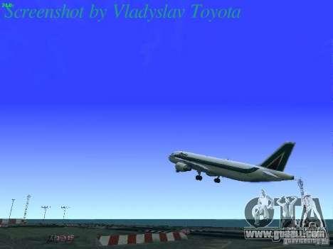 Airbus A320-214 Alitalia v.1.0 for GTA San Andreas interior