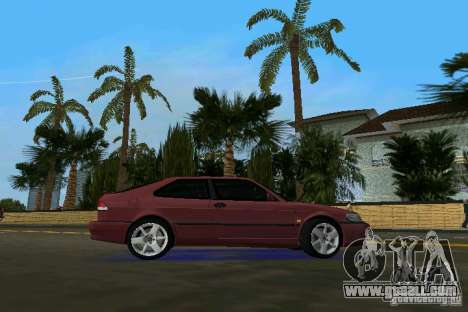 Saab 9-3 Aero 3-door 1999 for GTA Vice City right view
