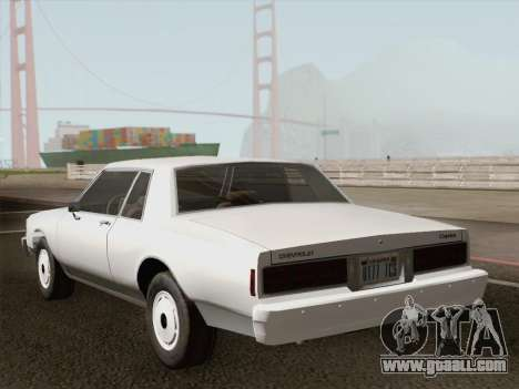 Chevrolet Caprice 1986 for GTA San Andreas engine
