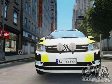 Volkswagen Passat B7 Variant 2012 for GTA 4 side view