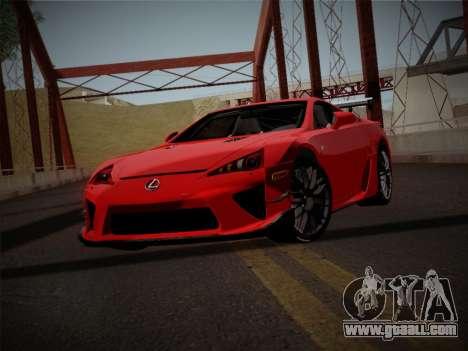 Lexus LFA Nürburgring Edition for GTA San Andreas