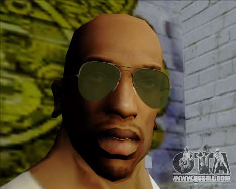 Green sunglasses Aviators for GTA San Andreas