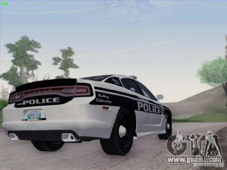 Dodge Charger 2012 Police for GTA San Andreas back view