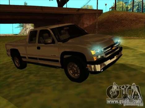 Chevrolet Silverado 2006 4x4 for GTA San Andreas