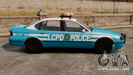 Declasse Merit Police Cruiser ELS for GTA 4 left view
