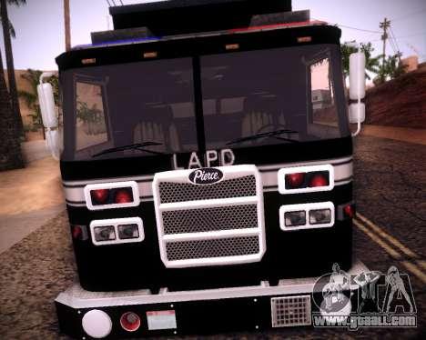 Pierce Contendor LAPD SWAT for GTA San Andreas left view
