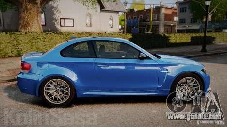 BMW 1M 2011 Carbon for GTA 4 left view