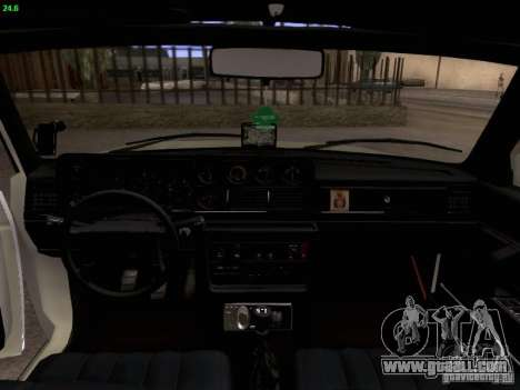 Volvo 242 Turbo for GTA San Andreas inner view
