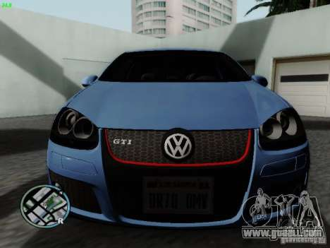 Volkswagen Golf V R32 Black edition for GTA San Andreas left view