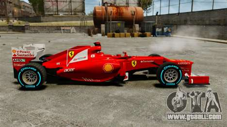 Ferrari F2012 for GTA 4 left view