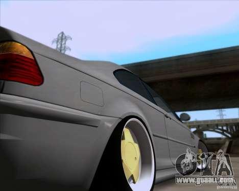 BMW 3-er E46 Dope for GTA San Andreas inner view