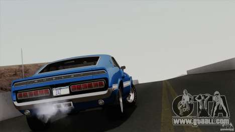Shelby GT500 428 Cobra Jet 1969 for GTA San Andreas bottom view