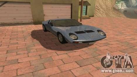 Lamborghini Miura P400 SV 1971 V1.0 for GTA San Andreas inner view