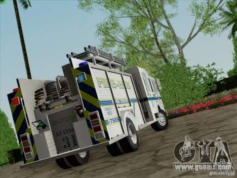 Pierce Pumpers. B.C.F.D. FIRE-EMS for GTA San Andreas left view