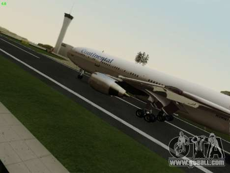McDonell Douglas DC-10-30 Continental for GTA San Andreas back view