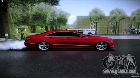 Mercedes Benz CLS 350 2011 for GTA San Andreas back left view