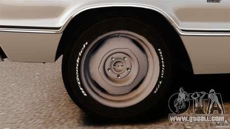 Dodge Coronet 1967 for GTA 4 bottom view