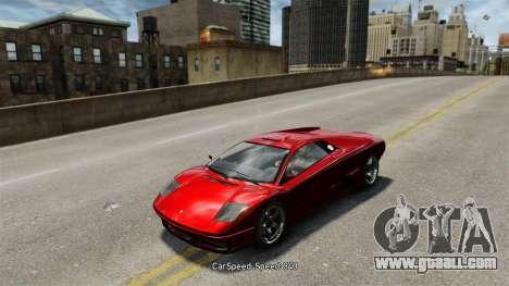 Vehicle speed for GTA 4 forth screenshot