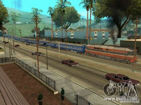 Platskartniy coach ORR for GTA San Andreas side view
