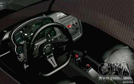 Pagani Zonda Cinque Roadster 2009 for GTA San Andreas right view