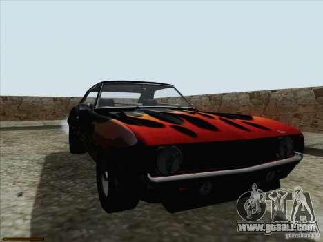 Chevrolet Camaro 1969 for GTA San Andreas side view