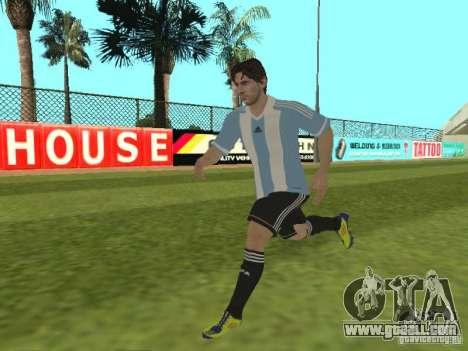 Lionel Messi for GTA San Andreas sixth screenshot