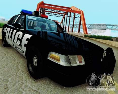 Ford Crown Victoria Police Interceptor 2011 for GTA San Andreas back left view