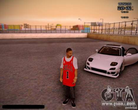Skin Chicago Bulls for GTA San Andreas