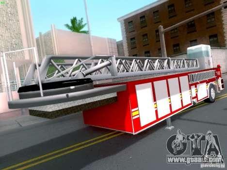 Trailer for Seagrave Tiller Truck for GTA San Andreas