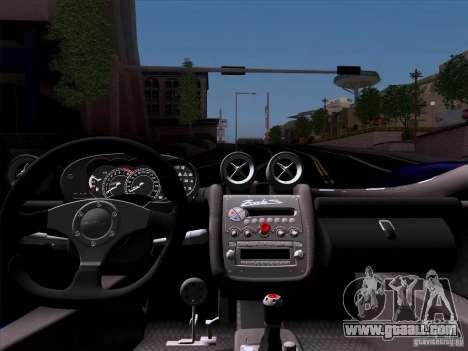 Pagani Zonda C12S Roadster for GTA San Andreas back view