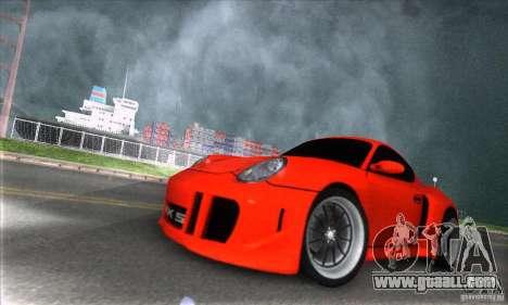 Porsche Cayman S v2 for GTA San Andreas back view