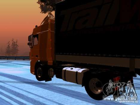 DAF XF105 for GTA San Andreas right view