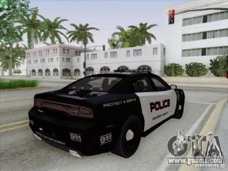 Dodge Charger 2012 Police for GTA San Andreas upper view