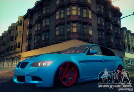 BMW M3 E90 for GTA San Andreas side view