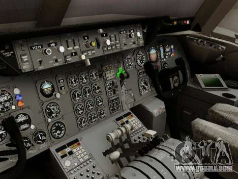 McDonell Douglas DC-10-30 Continental for GTA San Andreas inner view