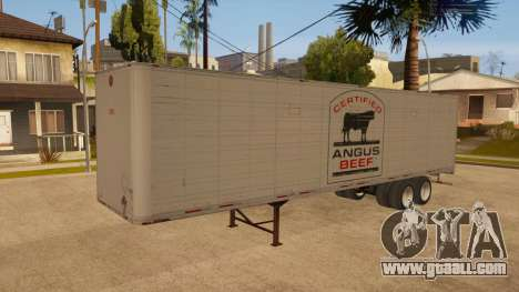All-metal trailer for GTA San Andreas back view