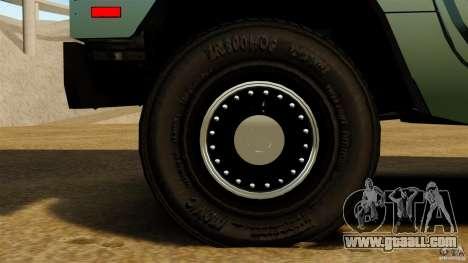 Hummer H1 Alpha for GTA 4 back view