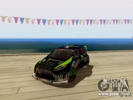 Ford Fiesta Gymkhana 3 for GTA San Andreas left view