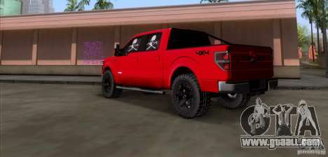 Ford F-150 4x4 for GTA San Andreas back left view